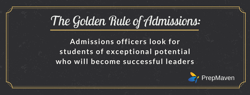 The Golden Rule of Admissions