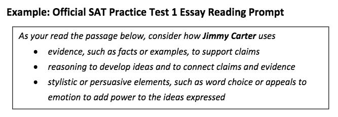 SAT Practice Test 1 Essay Prompt