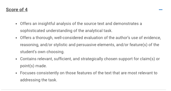 SAT Essay: Analysis Score of 4