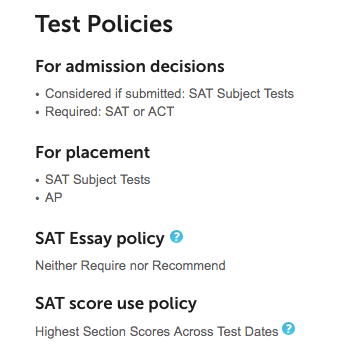 Pomona College_SAT Test Score Policies