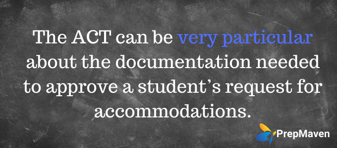 ACT Testing Accommodations