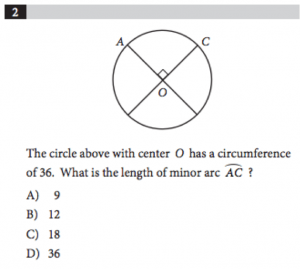 Circle question_SAT Geometry