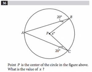 Circle question-SAT Geometry
