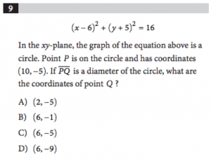 Circle Equation_SAT Geometry