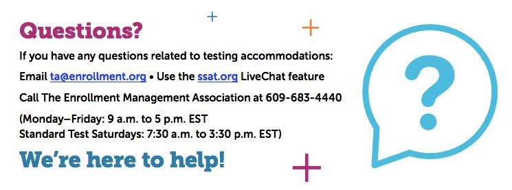 SSAT Contact Info