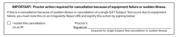 Canceling SAT Scores