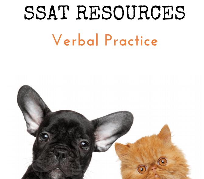SSAT Verbal Practice