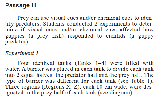 ACT Science Section_Experiments Passage