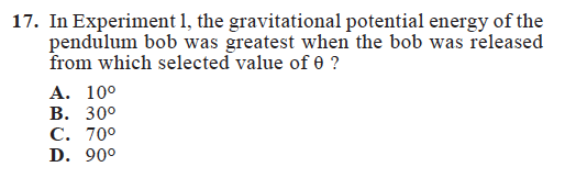 Sample ACT Science Question_Experiments