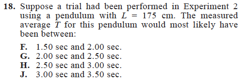 Sample ACT Science Question_High Difficulty