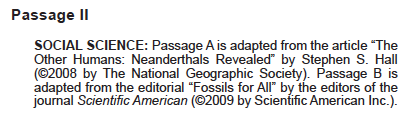 ACT Reading - Dual Passage