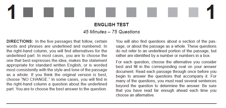 ACT English Strategies from the Experts